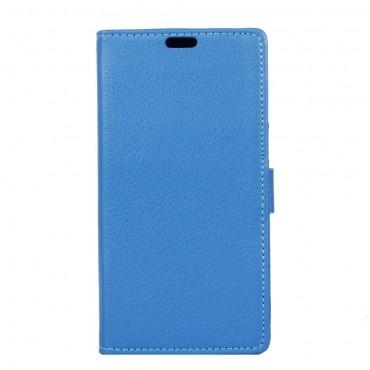 """Elegantní pouzdro """"Litchi"""" pro Sony Xperia XA1 z umělé kůže - modrý"""