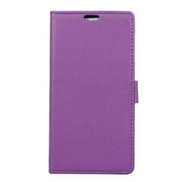 """Elegantní kryt z umělé kůže """"Litchi"""" pro Sony Xperia XA1 - fialový"""