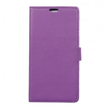 """Elegantní pouzdro """"Litchi"""" pro Sony Xperia XA1 z umělé kůže - fialový"""