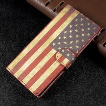 "Módní pouzdro ""Retro USA"" pro Sony Xperia XA1"