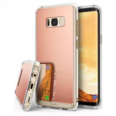 """Ringke """"Mirror"""" védőtok Samsung Galaxy S8 készülékekhez – rose gold"""