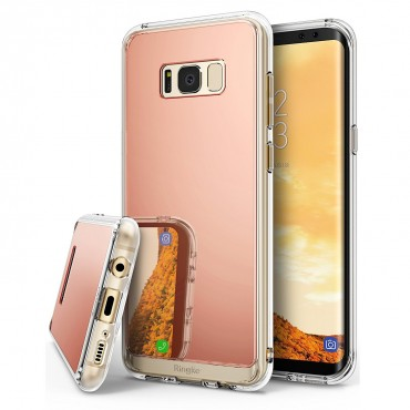 "Kryt Ringke ""Mirror"" pro Samsung Galaxy S8 Plus - rose gold"