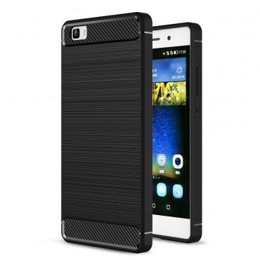 "Kryt TPU gel ""Brushed Carbon"" pro Huawei P8 Lite - černý"