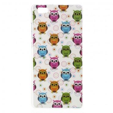 "TPU gelový obal ""Owls"" pro Huawei P8 Lite"