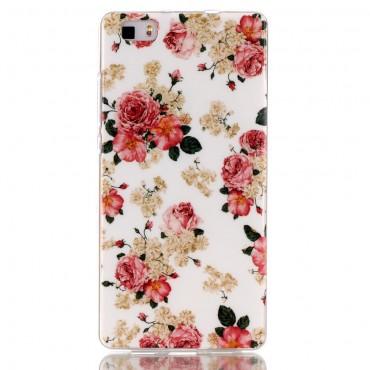 """Kryt TPU gel """"Lovely Roses"""" pro Huawei P8 Lite"""