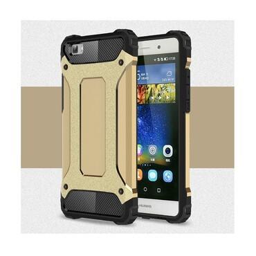 """Robustní kryt """"Rock"""" pro Huawei P8 Lite - zlatý"""