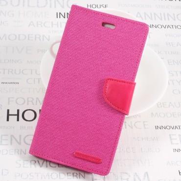 Pouzdro Goospery Canvas Diary pro Huawei P10 - růžové