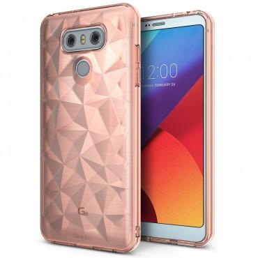 """Kryt Ringke """"Air Prism"""" pro váš LG G6 – rose gold"""