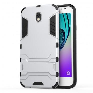 """Robustní obal """"Impact X"""" pro Samsung Galaxy J7 2017 - stříbrný"""