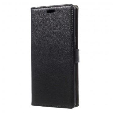 """Elegantní pouzdro """"Litchi"""" pro Samsung Galaxy Note 8 z umělé kůže - černé"""