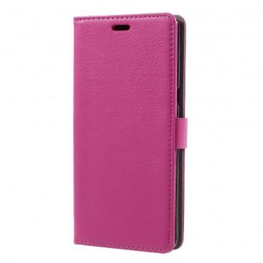 """Elegantní pouzdro """"Litchi"""" pro Samsung Galaxy Note 8 z umělé kůže - růžový"""