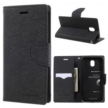 Pouzdro Goospery Fancy Diary pro Samsung Galaxy J7 2017 - černé