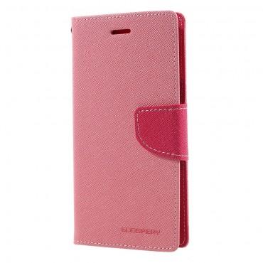 Pouzdro Goospery Fancy Diary pro Samsung Galaxy J7 2017 - růžové