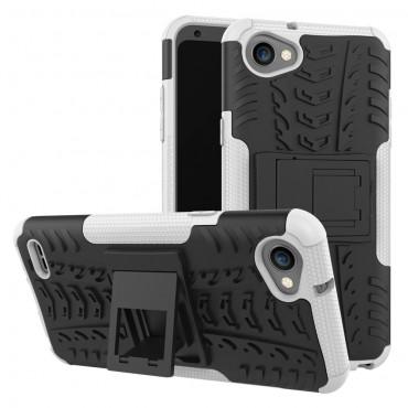 """Hybridní kryt TPU gel """"Tough"""" pro LG Q6 - černé"""