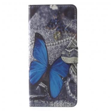 """Módní pouzdro """"Blue Butterfly"""" pro Samsung Galaxy Note 8"""