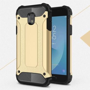 """Robustní obal """"Rock"""" pro Samsung Galaxy J3 2017 - zlaté barvy"""