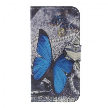 """Módní pouzdro """"Blue Butterfly"""" pro Samsung Galaxy J3 2017"""