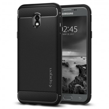 "Obal Spigen ""Rugged Armor"" pro Samsung Galaxy J3 2017 - černý"
