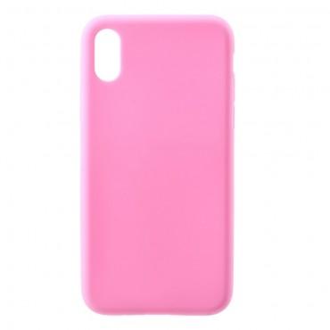 TPU gelový obal pro iPhone X / XS - růžový