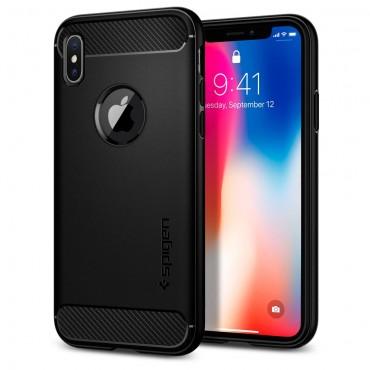 "Obal Spigen ""Rugged Armor"" pro iPhone X - černý"