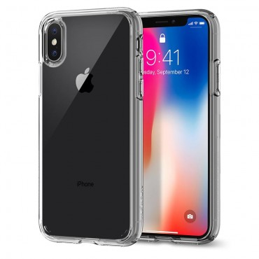 "Kryt Spigen ""Ultra Hybrid"" pro iPhone X - crystal clear"