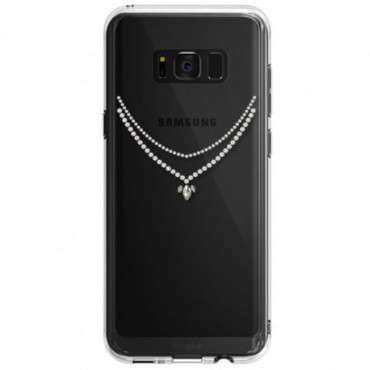 """Kryt Ringke """"Noble Necklace"""" pro Samsung Galaxy S8 - crystal view"""