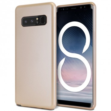 Kryt TPU gel Goospery iJelly Case pro Samsung Galaxy Note 8 - zlatý