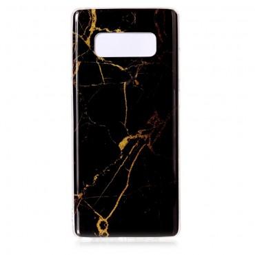 """Módní kryt """"Marble"""" pro Samsung Galaxy Note 8 - černé"""