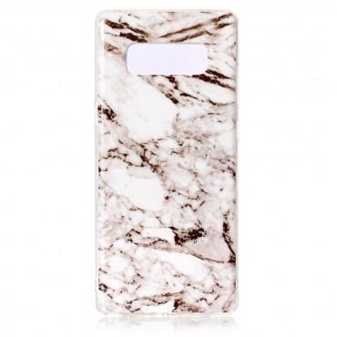 """Módní kryt """"Marble"""" pro Samsung Galaxy Note 8 - bílý"""