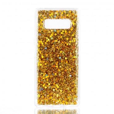 "Módní kryt ""Liquid Glitter"" pro Samsung Galaxy Note 8 - zlatý"