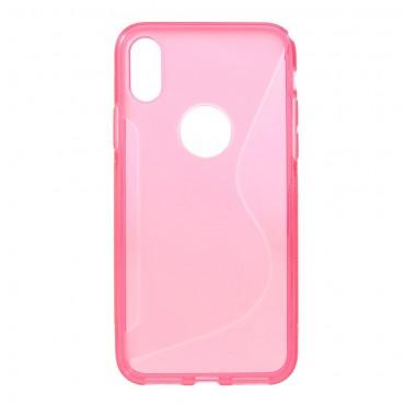 """Kryt TPU gel """"S-Line"""" pro iPhone X / XS - růžový"""