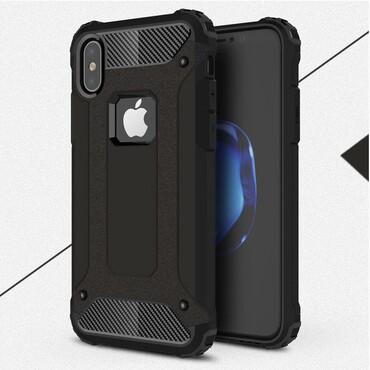 """Robustní obal """"Rock"""" pro iPhone X / XS - černý"""