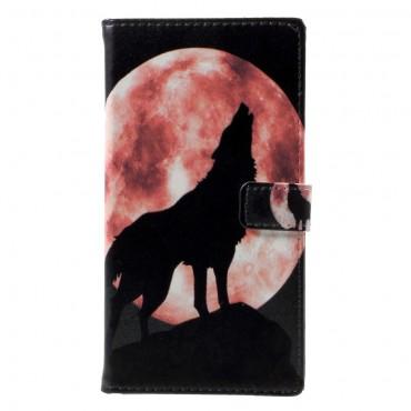 "Módní pouzdro ""Howling Wolf"" pro LG Q6"