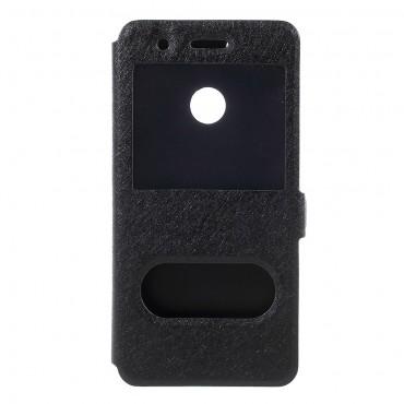 """Módní pouzdro """"Double View"""" pro Huawei P9 Lite Mini - černé"""