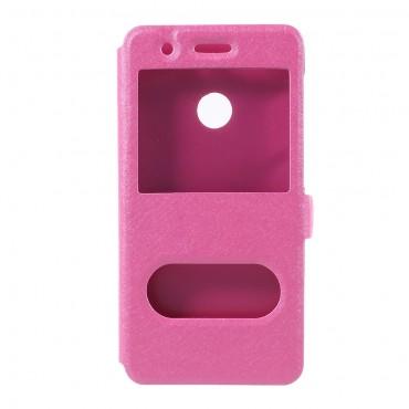 """Módní pouzdro """"Double View"""" pro Huawei P9 Lite Mini - růžové"""