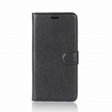 """Elegantní pouzdro """"Litchi"""" pro Huawei P9 Lite Mini - černé"""