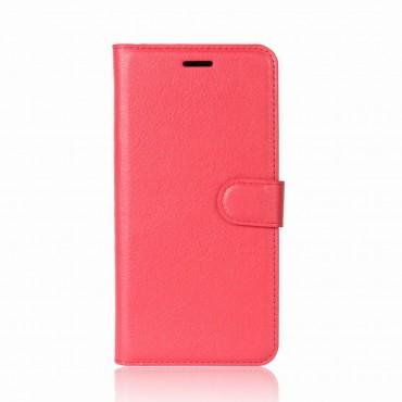 """Elegantní pouzdro """"Litchi"""" pro Huawei P9 Lite Mini - červené"""