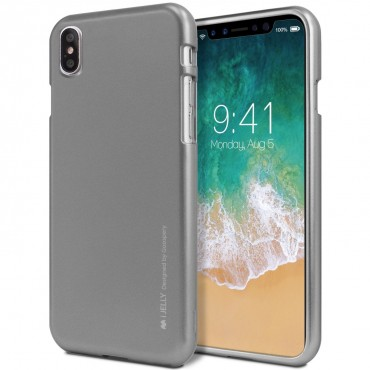 Kryt TPU gel Goospery iJelly Case pro iPhone X / XS - šedý