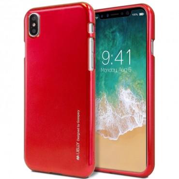 Kryt TPU gel Goospery iJelly Case pro iPhone X - červené