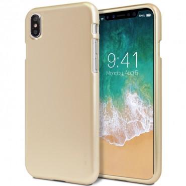 Kryt TPU gel Goospery iJelly Case pro iPhone X / XS - zlatý