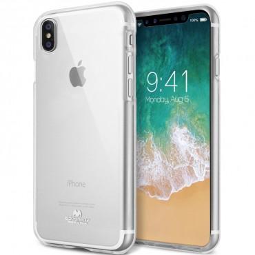 TPU gelový obal Goospery Clear Jelly Case pro iPhone X / XS - průhledný