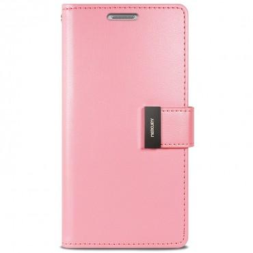 Elegantní kryt Goospery Rich Diary pro iPhone X / XS - růžový