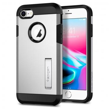 """Obal Spigen """"Tough Armor"""" pro iPhone 8 - saténově stříbrný"""