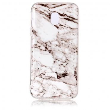 """Módní obal """"Marble"""" pro Samsung Galaxy J3 2017 - bílý"""