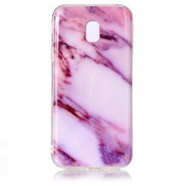 """Módní obal """"Marble"""" pro Samsung Galaxy J3 2017 - fialový"""