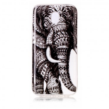 "TPU gelový obal ""Tribal Elephant"" pro Samsung Galaxy J3 2017"