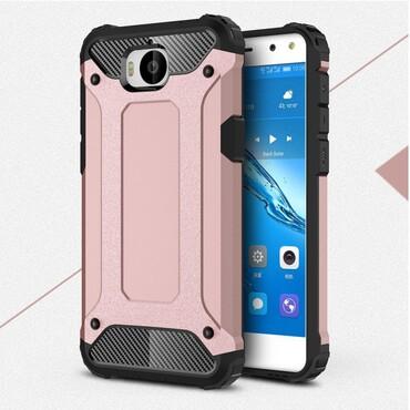 "Robustní kryt ""Rock"" pro Huawei Y5 2017 / Y6 2017 - růžové"