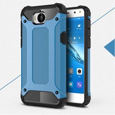 "Robustní kryt ""Rock"" pro Huawei Y5 2017 / Y6 2017 - modrý"