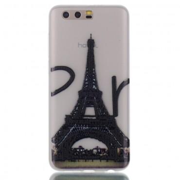 "Kryt svítící ve tmě ""Eiffel Tower"" pro Huawei Honor 9 / Honor 9 Premium"