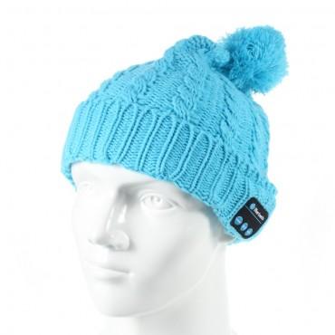 """Bluetooth čepice """"Cof"""" s vestavěnými reproduktory, ovládáním a mikrofonem - modrá"""